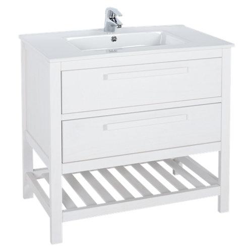 Mueble de baño con lavabo amazonia blanco 80 x 45 cm
