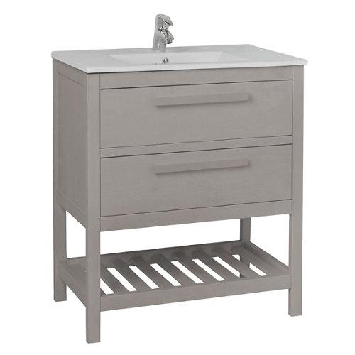 Mueble de baño con lavabo amazonia gris grafito 60 x 45 cm