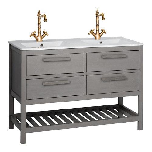 Mueble de baño con lavabo amazonia gris grafito 120 x 45 cm