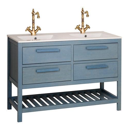 Mueble de baño con lavabo amazonia azul 120 x 45 cm