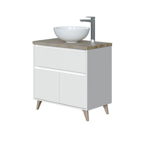 Mueble de baño ona blanco 80 x 48 cm