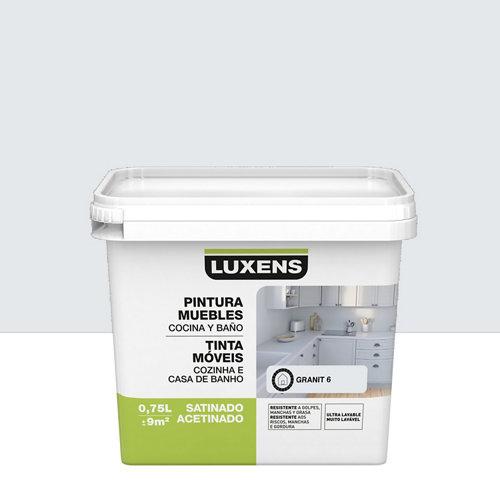 Esmalte para muebles de cocinas y baños satinado luxens 750ml granit 6