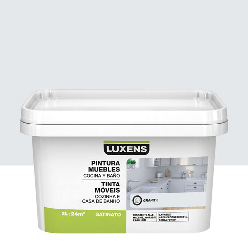 Esmalte para muebles de cocinas y baños satinado luxens 2l granit 6