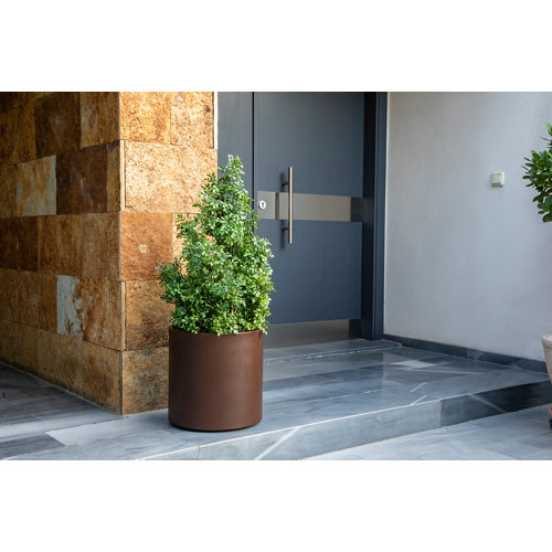Maceta de polietileno hortensia bronce 80x80 cm