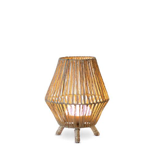Lámpara de mesa exterior sisine recargable en ratán 900 lúmenes