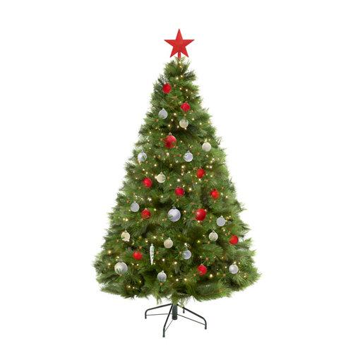Lote decoración de navidad en blanco y rojo