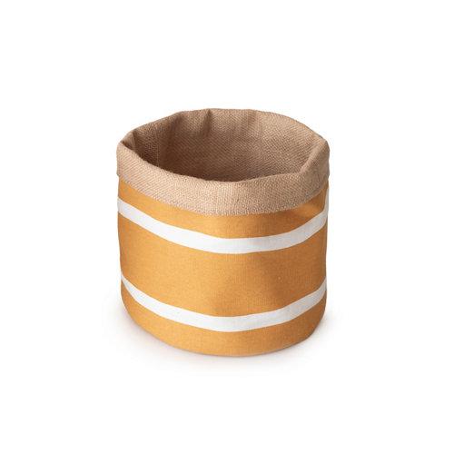 Basket yute reversible mostaza ø20x20 cm