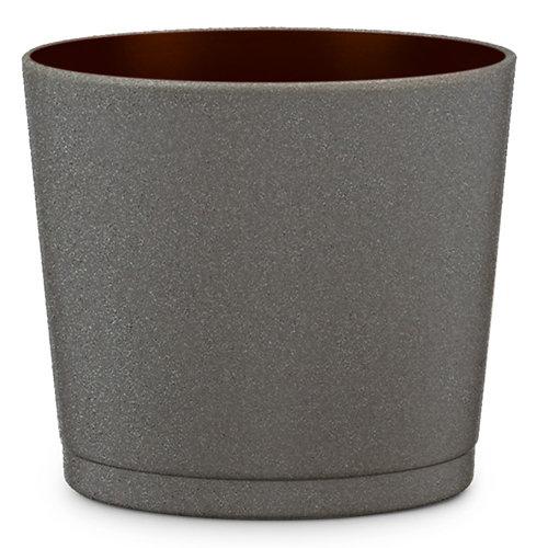 Maceta de cerámica esmaltada scheurich marrón 15x13.5 cm