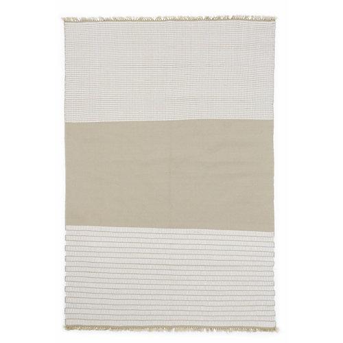 Alfombra de interior y exterior beige polipropileno riga 160 x 230cm