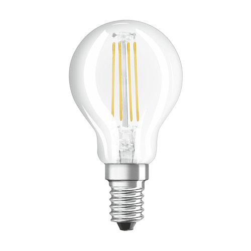 Pack 10 bombillas filamento esféricas dim e14 4.5w 2700k osram