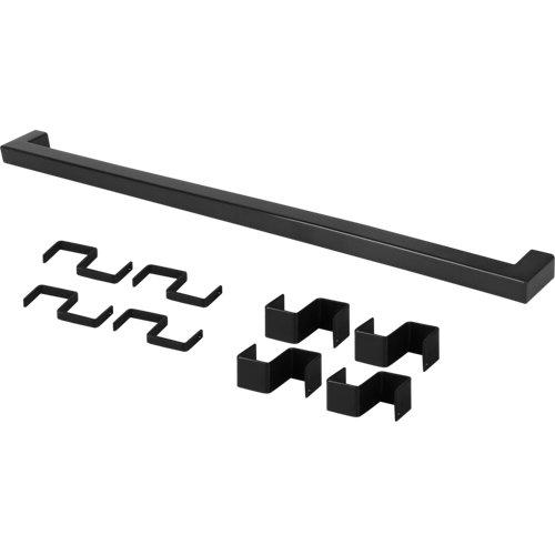 Set barra de cocina delinia id acero gris 45 cm 8 ganchos colgar