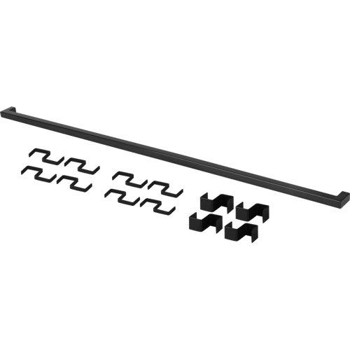 Set barra de cocina delinia id acero gris 90 cm + 12 ganchos colgar