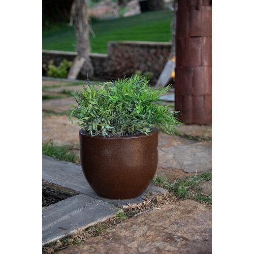 Maceta de polietileno newgarden naranja 30x24.7 cm