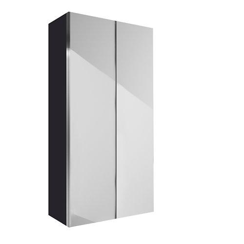 Armario spaceo home mallorca blanco correderas interior gris 240x160x60cm