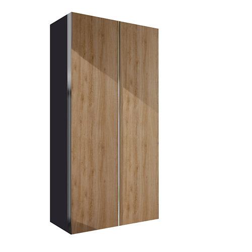 Armario spaceo home mallorca roble correderas interior gris 240x160x60cm