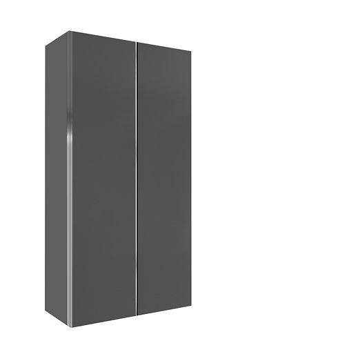 Armario spaceo home mallorca gris correderas interior gris 240x160x60cm