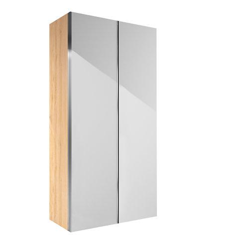 Armario spaceo home mallorca blanco correderas interior roble 240x160x60cm
