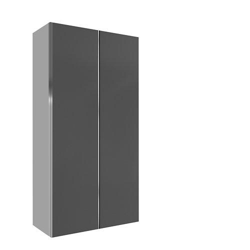 Armario spaceo home mallorca gris correderas interior textil 240x160x60cm