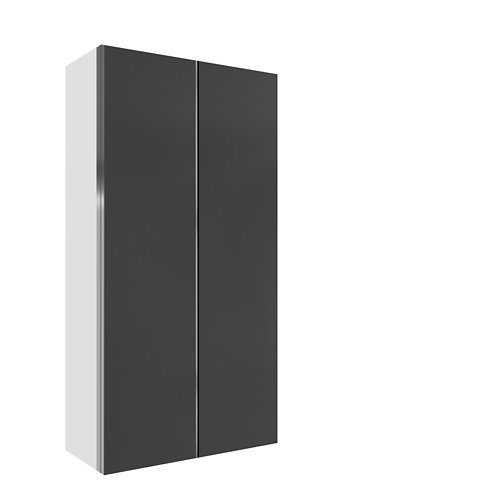 Armario spaceo home mallorca gris corredera interior blanco 240x120x60cm
