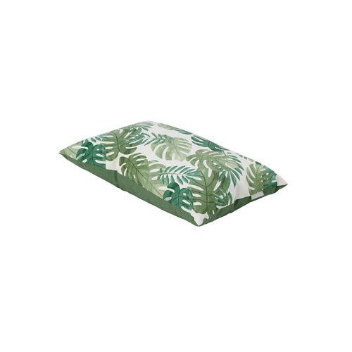 Cojín de exterior decorativo 55x35 cm jungla verde