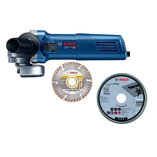 Amoladora bosch blue 115mm de 750w + 10 discos amoladora 115mm inox