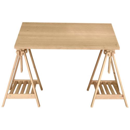 Mesa de escritorio pino 80x120x2,5 cm