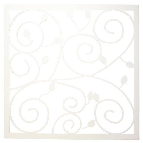 Reja ventana floral blanco105x125 cm