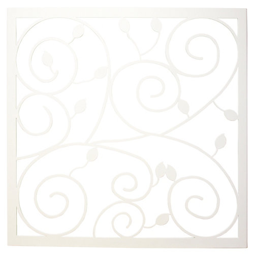 Reja ventana floral blanco145x145 cm