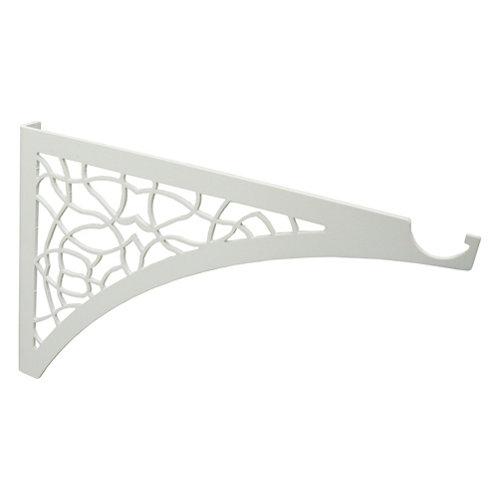 Portamaceteros pared de acero pintado con epoxi blanco 2.3x30.3 cm