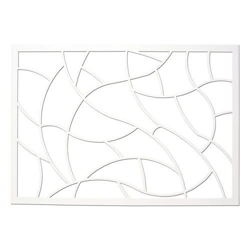 Reja ventana artdeco blanco 105x105 cm