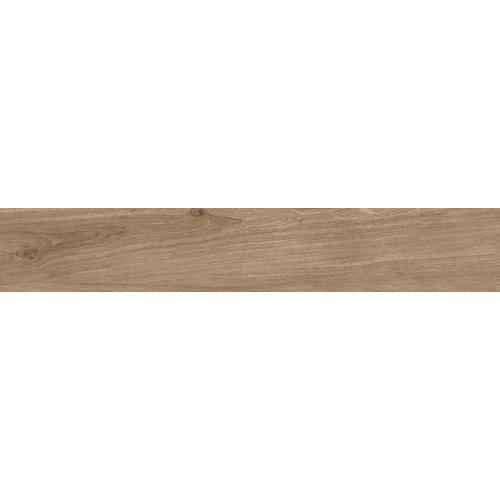 Pavimento cerámico esmaltado artens honey rc de 150x25 cm en color marrón