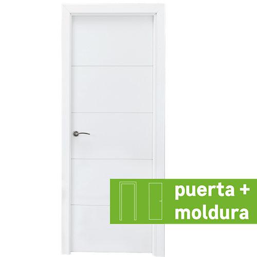 Conjunto de puerta lucerna plus blanco 72,5 cm derecha + kit de tapetas