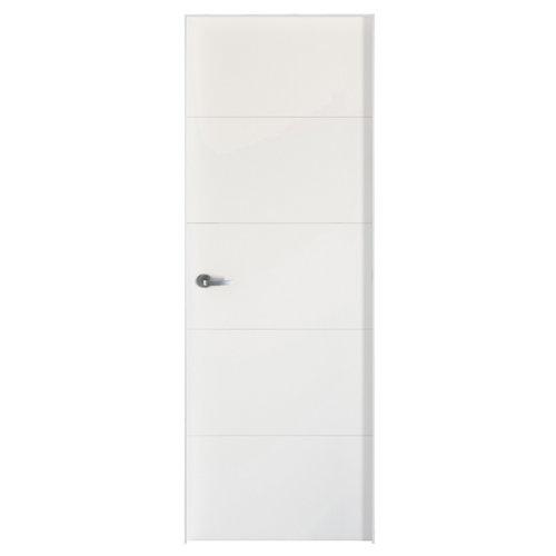 Conjunto de puerta lucerna plus blanco 82,5 cm derecha + kit de tapetas
