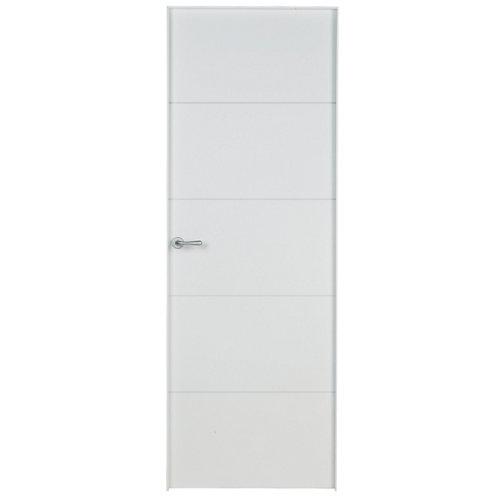 Conjunto de puerta lucerna plus blanco 92,5 cm derecha + kit de tapetas