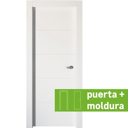 Conjunto de puerta lucerna plus blanco 92,5 cm izquierda + kit de tapetas