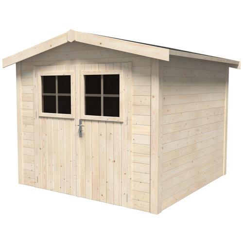 Caseta de madera mano de 263.2x212x249.5 cm y 6.56 m2
