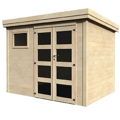 Caseta de madera paolo de 390x216x305 cm y 11.92 m2