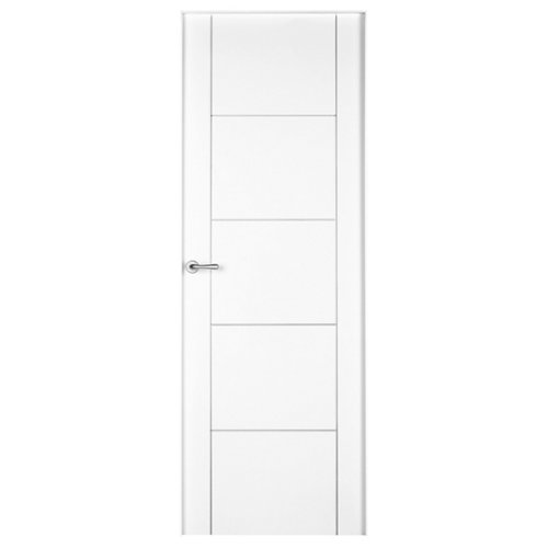 Conjunto de puerta noruega lacada blanco 72,5 cm derecha + kit de tapetas