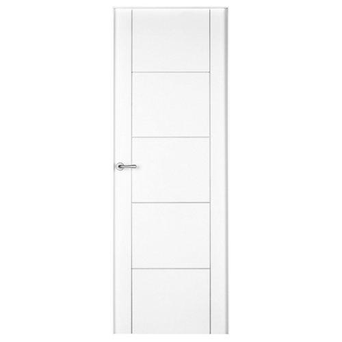 Conjunto de puerta noruega lacada blanco 82,5 cm derecha + kit de tapetas