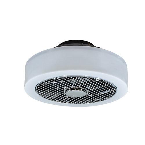 Ventilador de techo con luz led samos blanco 39 cm dc
