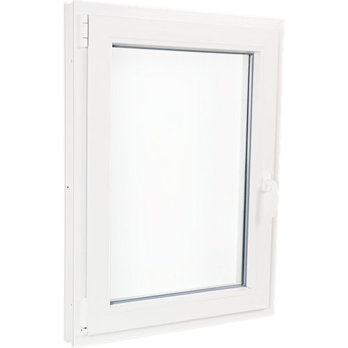 Ventana pvc blanca oscilobatiente izquierda 75x100 cm