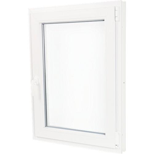 Ventana pvc blanca oscilobatiente derecha 75x100 cm