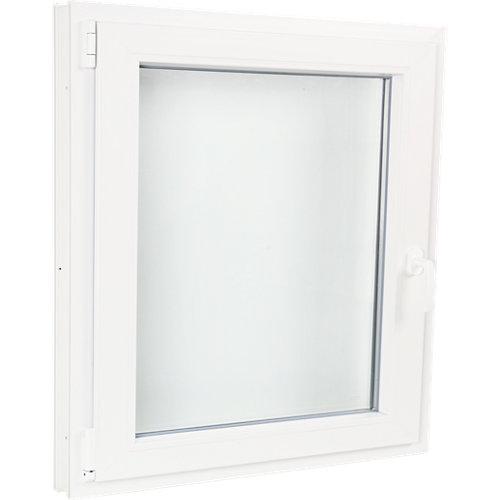 Ventana pvc blanca oscilobatiente izquierda 80x80 cm