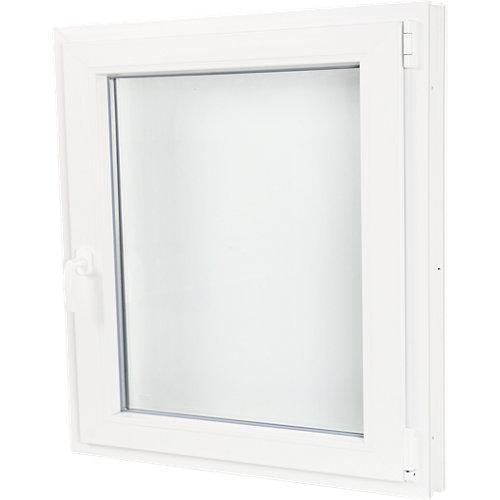 Ventana pvc blanca oscilobatiente derecha 80x80 cm