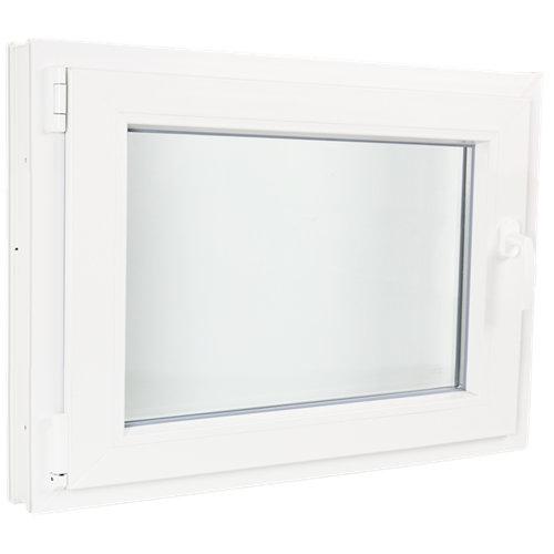 Ventana pvc blanca oscilobatiente izquierda 100x60 cm