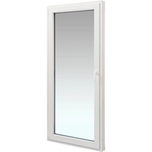 Balconera pvc blanca abatible izquierda 90x200 cm