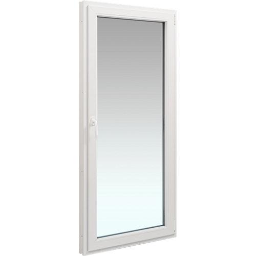 Balconera pvc blanca abatible derecha 90x200 cm