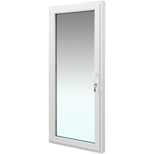 Balconera pvc blanca praticable izquierda 90x200 cm cerradura