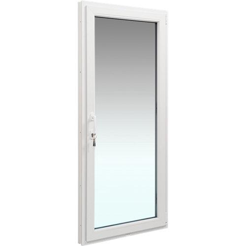 Balconera pvc blanca praticable derecha 90x200 cm cerradura