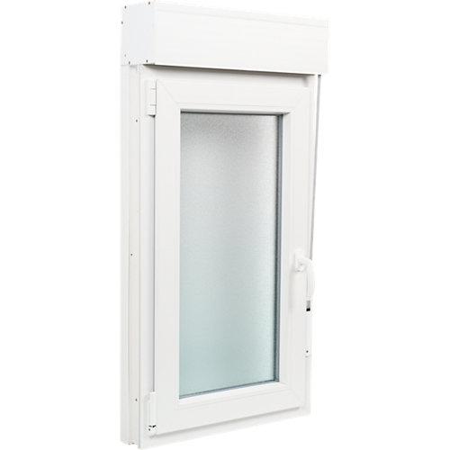 Ventana pvc blanca oscilobatiente persiana izquierda 60x115 cm
